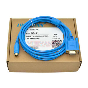 3M Suits For Serials FX1N 0S 3U 3G Series PLC Programming Cable SC-11 Download