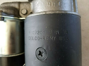 DELCO REMY STARTER AMC 1961-1963 Rambler 6 Cyl. # 1107201 2A10 DATE CODED