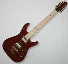 E-Gitarre 12 Saiter Wurzelholz Matching Headstock Humbucker Gold Hardware G159