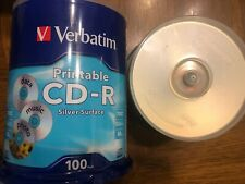 Printable CD-R Silver Surface 100 (unopened) + 57 Mix CD-R NEW Verbatim Memorex