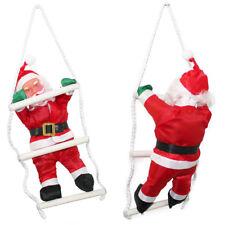 Babbo Natale su Scala 32cm Decorazione Natalizia Natale Figura Nicolò