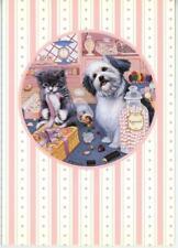 KITTEN CAT JELLY BEANS CANDY STORE LOLLIPOPS 1 GIRL PINK BIRTHDAY CAKE DOG CARD