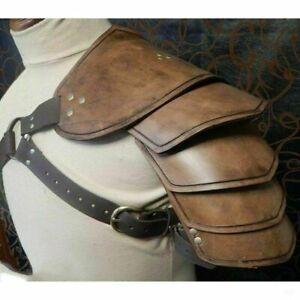 Steampunk Medieval Pauldrons Leather Rivet Warrior Shoulder Armor Party Props ##
