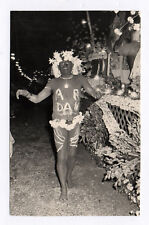 PHOTO ANCIENNE Costume Déguisement 1937 Travesti Nu Drôle Fête Tahitienne ? 1960