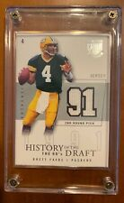 2003 BRETT FAVRE FLEER HISTORY OF THE DRAFT JERSEY CARD 10/50