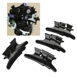 Pack of 12 Hairdresser Clamps Hair Claw Clip Grip Black Ladies Clips
