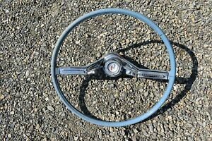 1961 Buick Electra, LeSabre, Invicta Blue Steering Wheel With Horn Bar & Emblem