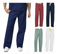 Unisex Clinic Medical Wear Doctor Nurse Reversible Uniform Scrubs Pants XS-3XL
