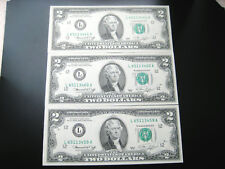 (3) $2 1976 ((SAN FRANCISCO)) FEDERAL RESERVE NOTE CHOICE UNC NOTE