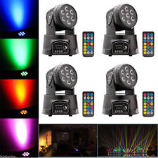 4PCS 70W RGBW 4in1 LED Moving Head Stage Light DMX 14CH DJ Disco Party Lighting