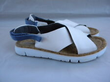 Camper XL Extralight Oruga White Leather Slingback Flat Sandals Size 40