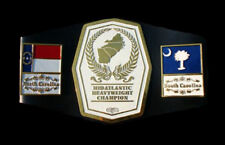 Mid Atlantic Heavyweight Championship Belt Replica Old Real Thick Metal plate le