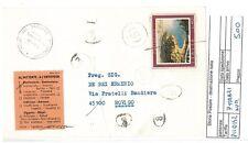 STORIA POSTALE - REPUBBLICA ISOLATI - PIII0142 - LETTERA 7 TIMBRI NUMERI- 5.00€