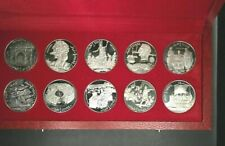 Tunisia 1969 Franklin Mint Proof Silver 10 Coin 1 Dinars with Box & COA        m