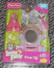 Fisher Price Loving Family  Dollhouse Princess Vanity/Dresser w/ Clothes NEW