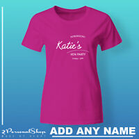 Hen T Shirts Do Party Bride Personalised T-Shirt Ladies Custom Wedding Tee