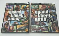 Grand Theft Auto 4 & 5 Signature Series Brady Games Strategy Guide Book Lot VGC