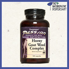 Swanson HORNY GOAT WEED COMPLEX. 120 Capsules. Tribulus, Maca, Sexual Health
