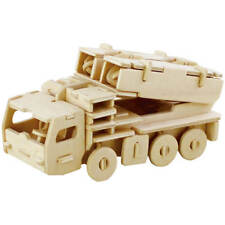 Missile Truck 3D Wooden Puzzle DIY 3 Dimensional Wood Build It Yourself War