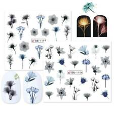 Water Decal Transfer Nail Art Nail Sticker Slider Colorful Flower Decor Manicure