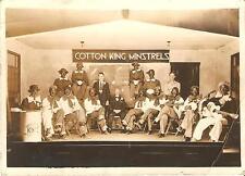 Antique photograph photo Cotton King Ministrels autographed 1920's musicians