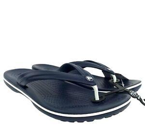 Crocs Mens Crocband Lightweight Stylish casual comfortable Flip Flop Navy siz 11
