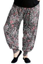 New Ladies Harem Plus Size Trousers Women Paisley Artsy Flared Ali Baba Nouvelle