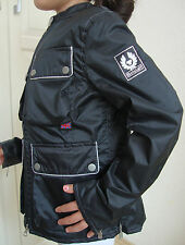Belstaff Firefly Jacket Girl Junior Veste Enfants Taille 8 Pearl Black neuf avec D.