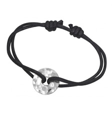 """Bracelet Pi / Cible martelée Argent 925 ou Plaqué Or 725. """"Esprit Dinh Van"""""""