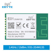 2pcs nRF24L01P 2.4GHz E01-2G4M13S SPI Transceiver 13dBm SMD PCB Antenna Module