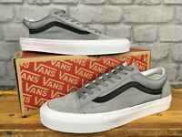 VANS MENS UK 8 EU 42 OLD SKOOL TRAINERS WOVEN GRAY SUEDE J