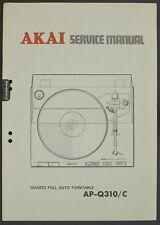 AKAI AP-Q310/C Original Turntable Service-Manual/Diagram/Parts List o172