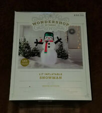 Wondershop LED Lit Inflatable Snowman with Bird * 6 feet tall * Christmas NEW