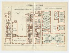 1927 ORIGINAL VINTAGE PLAN OF DOGE'S PALACE IL PALAZZO DUCALE VENICE ITALY