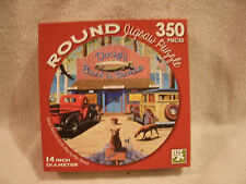 14x14 Colorful Dougs Bait And Tackle Shop Round 350 Piece Puzzle