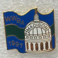 Wisconsin Woman's Bowling WWBA Madison Capital Wisconsin Enamel Tack Pin 1997