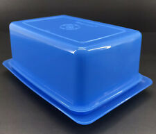 Tupperware Large 1 Lb. Butter Cheese Keeper Storage Dish Blue #780 New