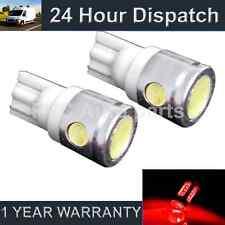 2x W5W T10 501 Xenon Rosso 3 LED SMD Luce Laterale Lato Lampadine HID sl101104