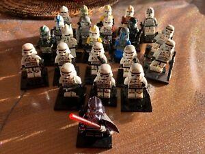 Lot de 23 minifigures stars wars