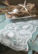 "Heritage Lace White TIDEPOOL 14"" x 40"" Table Runner - Seashells, Beach, Coastal"