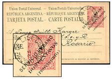 Argentina 2¢/6¢ Type 1 Psc Sep 1883 Rosario Gj6