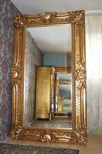 Miroir très grand 200X130CM bois massif doré à la feuille d'or d'un château