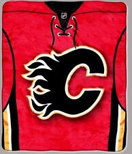Calgary Flames blanket bedding 50x60 FREE SHIPPING NHL uniform