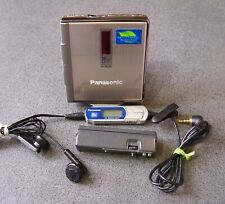 PANASONIC SJ-MJ30 Portable MiniDisc Player remote control AA pack Full working