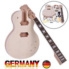 LP Style E-Gitarre Bausatz selber bauen Mahagoni Körper Neck DIY Set B1U8