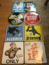 Complete Set - tech deck metal signs - 12inches - Pre Owned - Vintage Collectors
