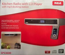 NEW RCA Under Cabinet Radio with CD Player and MP3 Docking Station*Free Shipment
