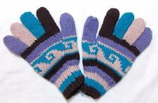 FAIR TRADE HAND MADE  BOHO ETHNIC HIPPY FESTIVAL SOFT WOOLEN GLOVES FROM NEPAL