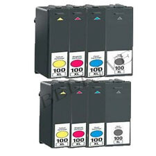 8 CARTUCCE 100XL STAMPANTE PER LEXMARK S816 Genesis, S600, S602, S608, Pro905
