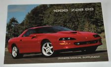 OEM GM SLP 1996 Camaro Z28 SS Owners Manual Supplement NEW 40 pages